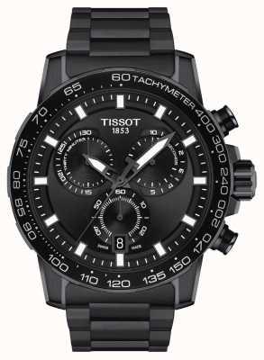 Tissot Crono Supersport | esfera negra | pulsera de acero pvd negro T1256173305100