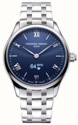 Frederique Constant Hombres | vitalidad | reloj inteligente | esfera azul | acero inoxidable FC-287N5B6B