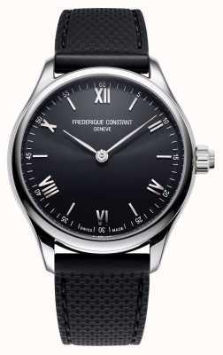 Frederique Constant Hombres | vitalidad | reloj inteligente | esfera negra | caucho negro FC-287B5B6