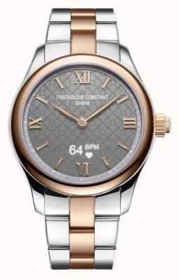 Frederique Constant Mujeres | vitalidad | reloj inteligente | esfera gris | Dos tonos FC-286BG3B2B
