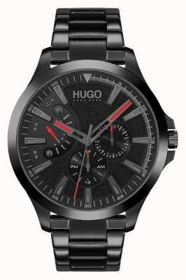 HUGO #leap casual | esfera negra | pulsera ip negra 1530175