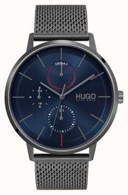 HUGO #existir negocio | esfera azul | correa de malla ip gris 1530171