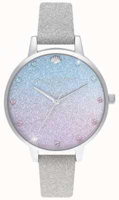 Olivia Burton Glitter ombre demi dial, marcadores de brillo correa de brillo OB16US49