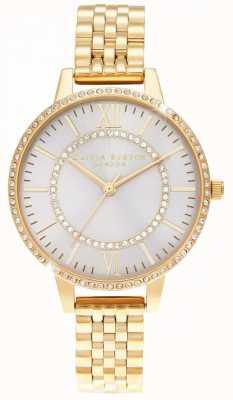 Olivia Burton Wonderland blush demi dial reloj dorado OB16WD90
