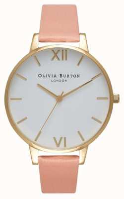 Olivia Burton Esfera blanca reloj de oro rosa y oro OB16BDW13