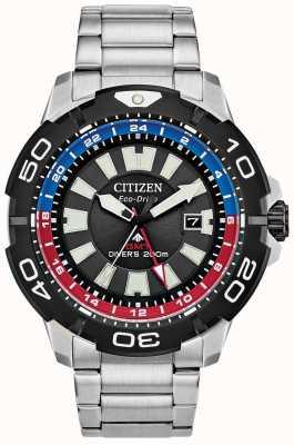 Citizen Hombre promaster diver gmt | esfera negra de acero inoxidable | acento azul y rojo BJ7128-59E