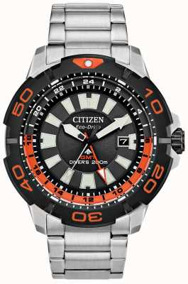 Citizen Hombre promaster diver gmt | acero inoxidable | esfera negra | acento naranja BJ7129-56E