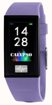 Calypso Unisex | smartime | correa de silicona púrpura + correa libre K8500/2