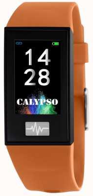 Calypso Unisex | smartime | correa de silicona naranja + correa libre K8500/3