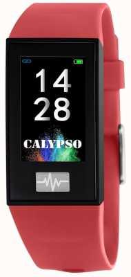 Calypso Unisex | smartime | correa de silicona roja + correa libre K8500/4