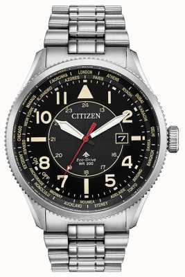 Citizen Reloj promaster nighthawk de acero inoxidable con esfera negra para hombre BX1010-53E