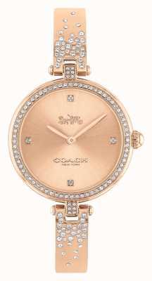 Coach Parque de mujeres | pulsera de acero inoxidable en oro rosa | esfera rosa 14503651