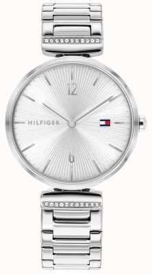 Tommy Hilfiger | mujer | aria | pulsera de plata de acero inoxidable | esfera plateada | 1782273