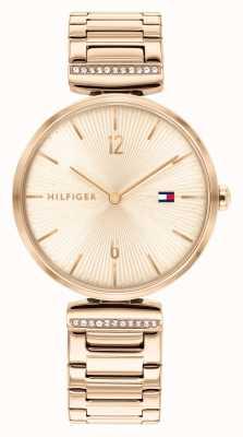 Tommy Hilfiger | mujer | aria | pulsera de acero en oro rosa | esfera de oro rosa | 1782271