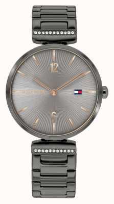 Tommy Hilfiger | mujer | aria | brazalete de acero gris bronce | esfera gris | 1782276