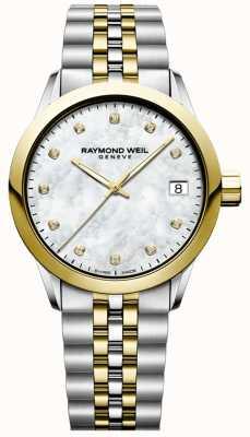 Raymond Weil Mujer | autónomo | diamante | nácar | Dos tonos 5634-STP-97081