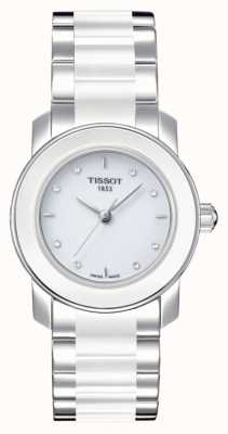 Tissot Reloj cera 28 mm con diamantes para mujer T0642102201600