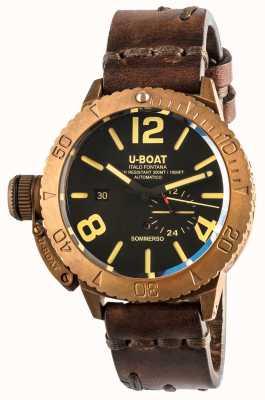 U-Boat Sommerso 46 bronce automático correa piel marrón 8486