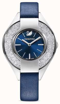 Swarovski | deportivo cristalino | correa de cuero azul | esfera azul | 5547629