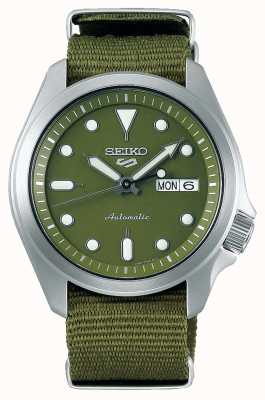 Seiko 5 correa de nailon verde con esfera verde deportiva para hombre SRPE65K1