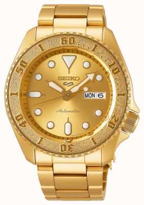 Seiko Pulsera en tono dorado 5 sport para hombre esfera dorada SRPE74K1
