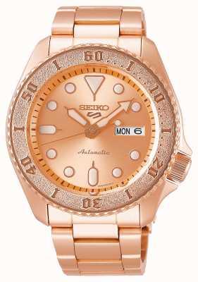 Seiko Oro rosa | mens | automático | deportes | pulsera SRPE72K1