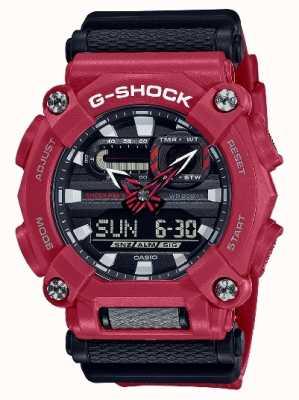Casio G-shock | trabajo pesado | hora mundial | resina roja GA-900-4AER