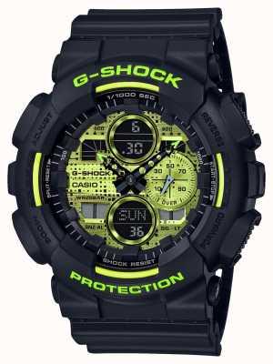 Casio G-shock | camuflaje digital | resina negra GA-140DC-1AER