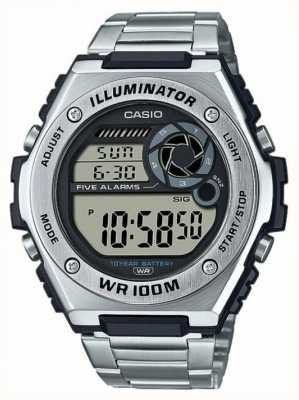 Casio Digital | iluminador | acero inoxidable | MWD-100HD-1AVEF