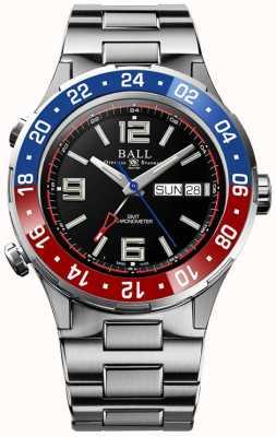 Ball Watch Company Roadmaster marine gmt   edición limitada   auto   esfera negra DG3030B-S4C-BK