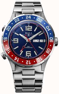 Ball Watch Company Roadmaster marine gmt   edición limitada   auto   esfera azul DG3030B-S4C-BE