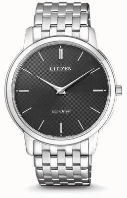 Citizen Reloj stiletto ultra fino con esfera negra para hombre AR1130-81H