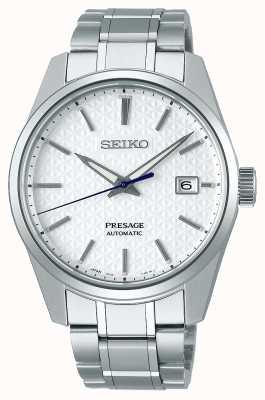 Seiko Presagio | mens | esfera blanca shrioneri | automático | serie de borde afilado SPB165J1