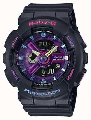 Casio Baby-g decora reloj con detalle morado BA-110TM-1AER
