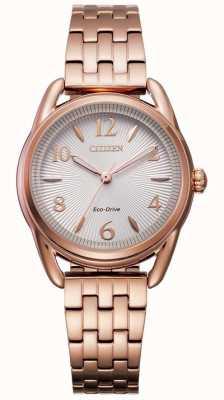 Citizen Reloj ip dorado con silueta eco-drive para mujer FE1213-50A