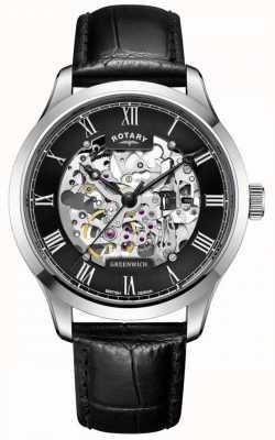 Rotary Hombres | esqueleto | greenwich | reloj automático GS02940/30