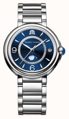 Maurice Lacroix Fiaba moonphase señoras cuarzo diamante acero inoxidable FA1084-SS002-420-1