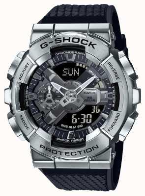 Casio G-shock | correa de resina texturizada | esfera plateada | hora mundial GM-110-1AER