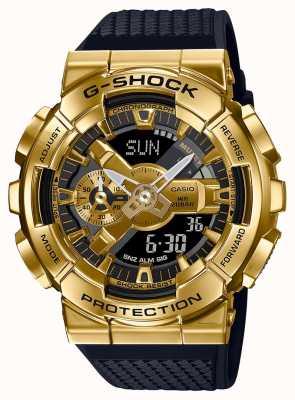Casio G-shock | correa de resina texturizada | caja metálica dorada | GM-110G-1A9ER