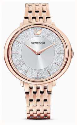 Swarovski Cristalino | pulsera de acero bañado en oro rosa | esfera brillante 5544590
