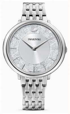 Swarovski Cristalino | pulsera de acero inoxidable | esfera plateada con brillo 5544583