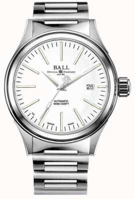 Ball Watch Company Empresa bombero | pulsera de acero inoxidable | esfera blanca NM2188C-S20J-WH