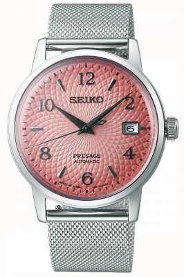 Seiko Presagio de edición limitada | pulsera de malla de acero | esfera rosa SRPE47J1