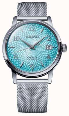Seiko Presagio de edición limitada | pulsera de malla de acero | esfera azul SRPE49J1