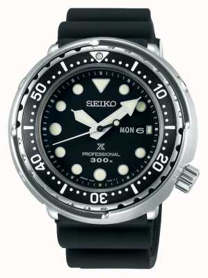 Seiko Prospex para hombres | pulsera de silicona negra | esfera negra S23629J1