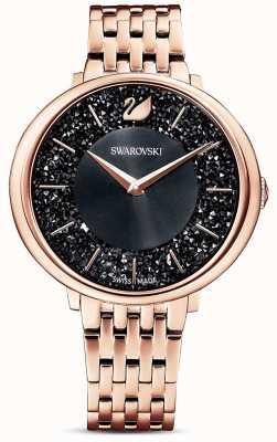 Swarovski | elegancia cristalina | pulsera pvd oro rosa | esfera de brillo negro | 5544587