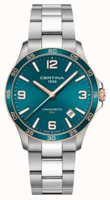 Certina Ds-8 | pulsera de acero inoxidable | esfera verde | cuarzo C0338512109700