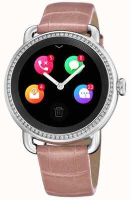 Festina Smartime | correa de piel rosa | pantalla a color | correa adicional con estampado de serpiente F50000/2
