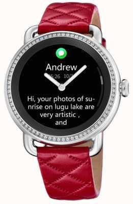 Festina Smartime | correa de piel roja | pantalla a color | correa adicional de cuero negro F50000/3