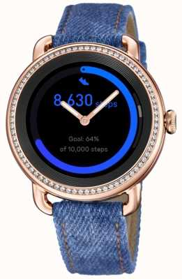Festina Smartime | correa de mezclilla para mujer | pantalla a color | conjunto de cristal | correa adicional F50002/1